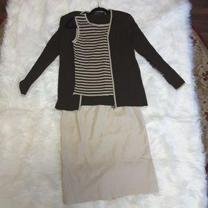 Dana Buchman 3 piece skirt set